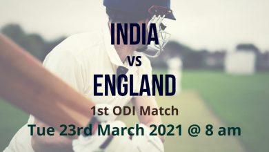 India vs England – 1st ODI Preview