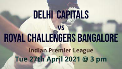 Delhi Capitals v Royal Challengers Bangalore